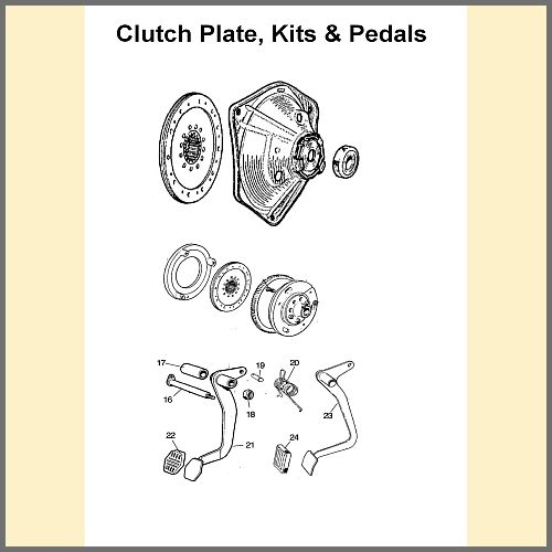 Clutch Plates, Kits, Pedals & Fittings
