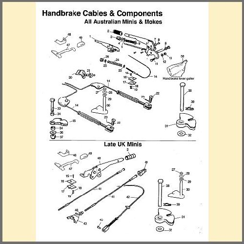 Hand Brake Cables & Components