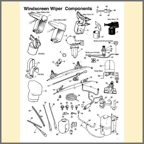 Windscreen Wiper Components